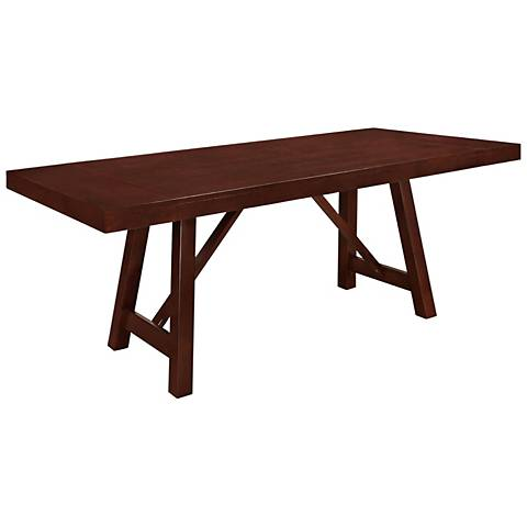 Trestle Espresso Wood Dining Table