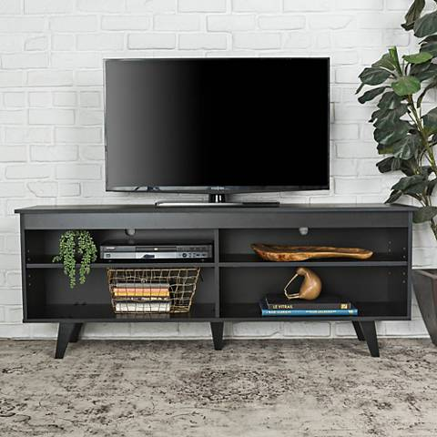 Jones Black Wood TV Console