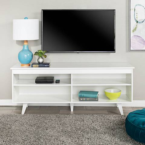 Jones White Wood TV Console