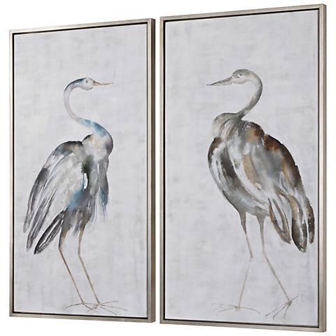 """Summer Birds 46 3/4"""" High 2-Piece Framed Canvas Wall Art Set"""