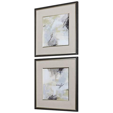 """Uttermost Vistas 32 1/2"""" Square 2-Piece Framed Wall Art Set"""