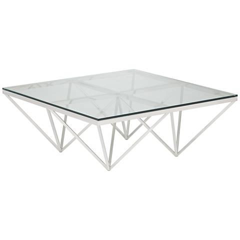 Luxor Chrome Square Metal Coffee Table