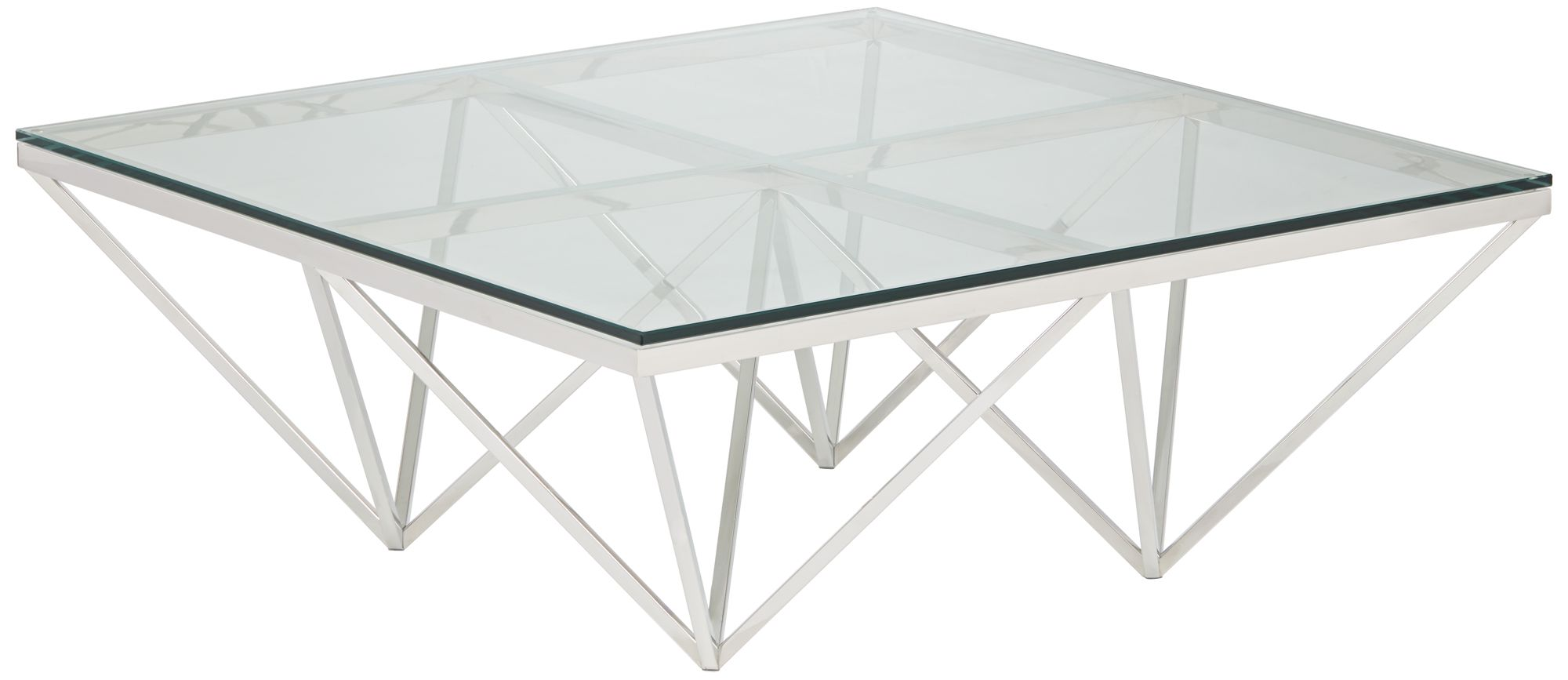 Luxor Chrome Square Metal Coffee Table