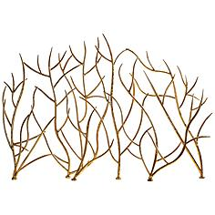 """Uttermost Gold Branches 32"""" High Decorative Fireplace Screen"""