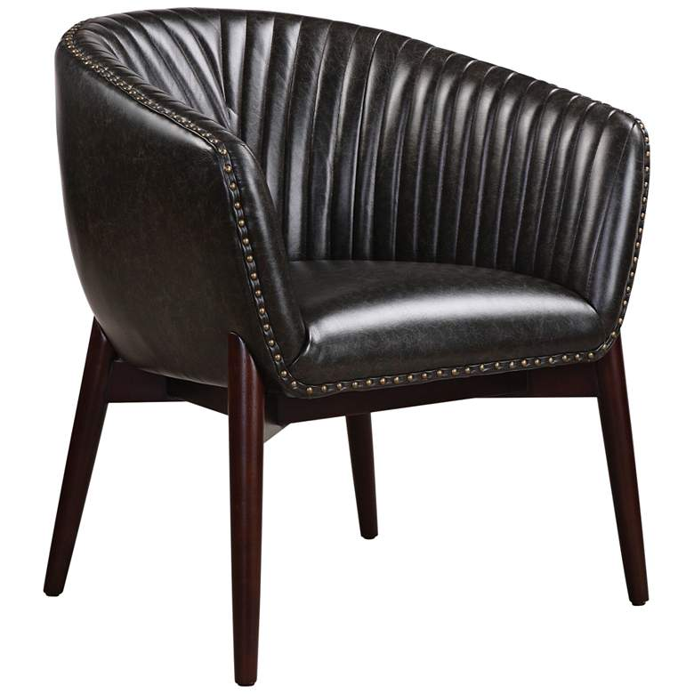Uttermost Anders Onyx Faux Leather Accent Chair