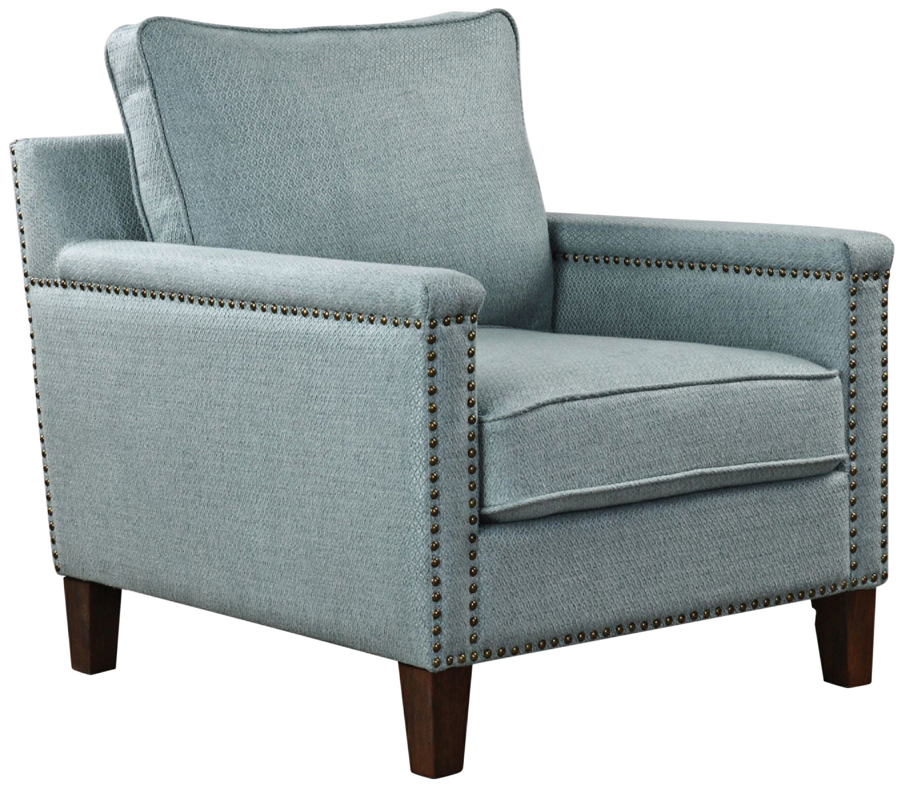 Uttermost Charlotta Light Sea Mist Fabric Accent Chair