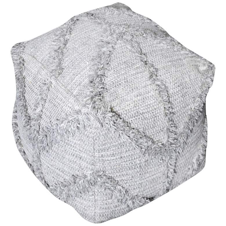 Uttermost Olfen Gray Wool Pouf Ottoman