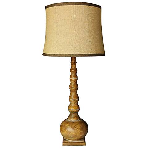 Danbury Distressed Brown Table Lamp