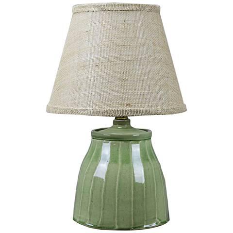Cambridge Green Ceramic Accent Table Lamp