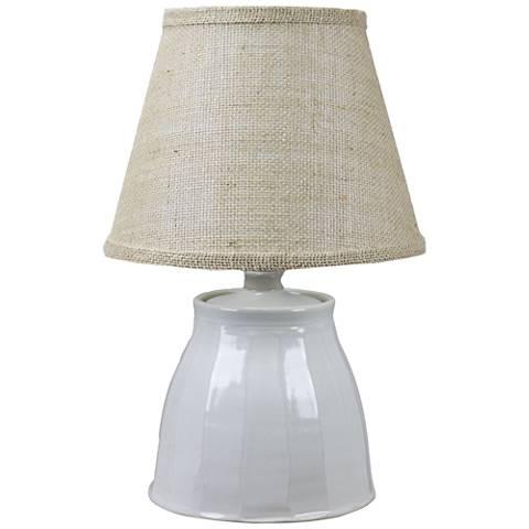 Cambridge Ivory Ceramic Accent Table Lamp