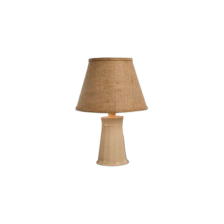 Cookie Ivory Gloss Ceramic Accent Table Lamp