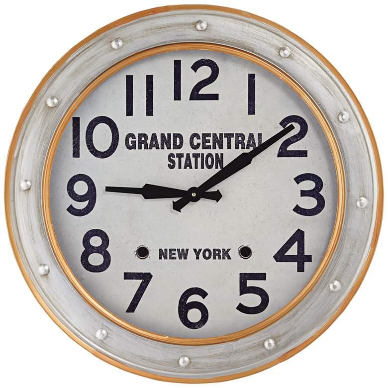 "Grand Central Station 24"" Railroad Train Wall Clock"