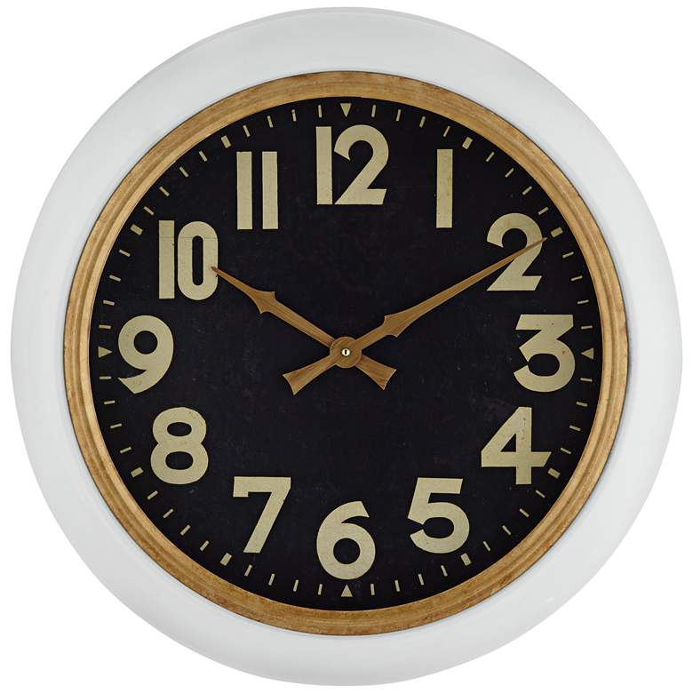 "57th Street 20"" Wide Battery Powered Wall Clock"