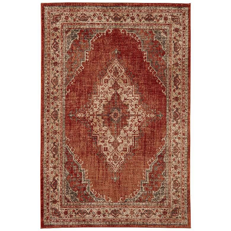 "Karastan Spice Market 90935 5'3""x7'10"" Red Rug"