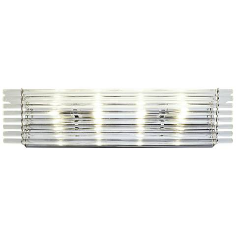 """Empire State 26"""" Wide Polished Stainless Steel Bath Light"""