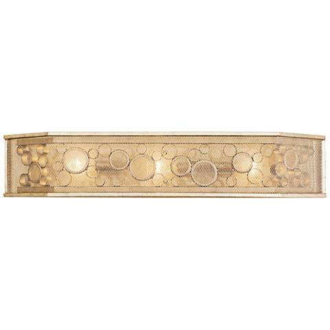 """Varaluz Fascination 31 3/4"""" Wide Zen Gold 3-Light Bath Light"""