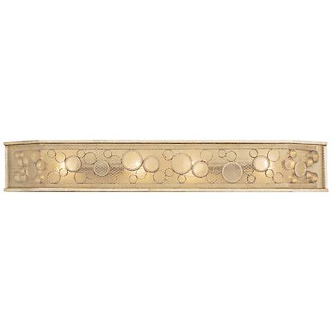 "Varaluz Fascination 39 1/2"" Wide Zen Gold 4-Light Bath Light"