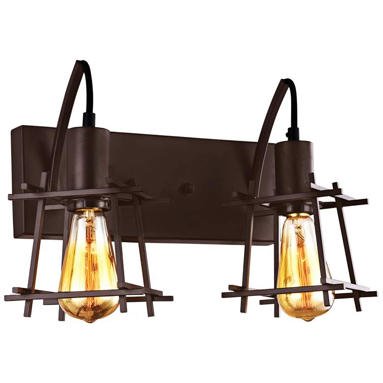 "Varaluz Hashtag 9 1/2"" High New Bronze 2-Light Wall Sconce"