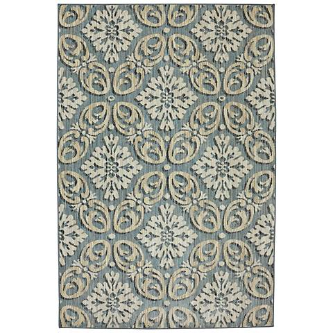 Karastan Euphoria 90271 Findon Bay Blue Area Rug