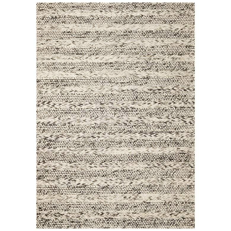 Cortico 6152 5'x7' Gray Heather Wool Area Rug