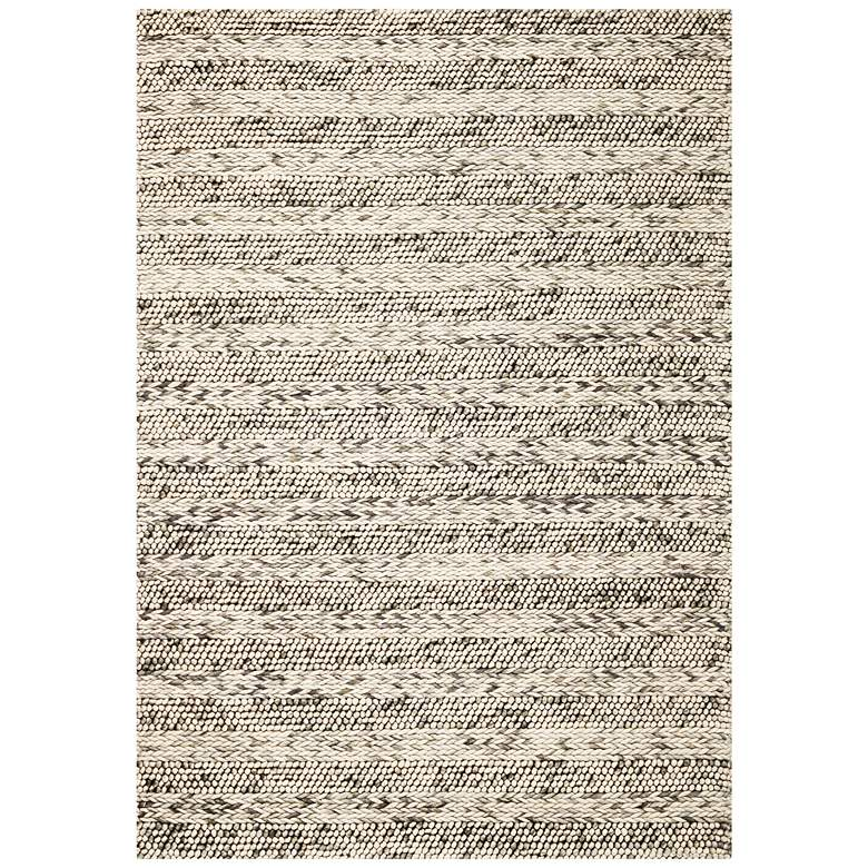 Cortico 6152 5'x7' Gray Heather Wool Area Rug