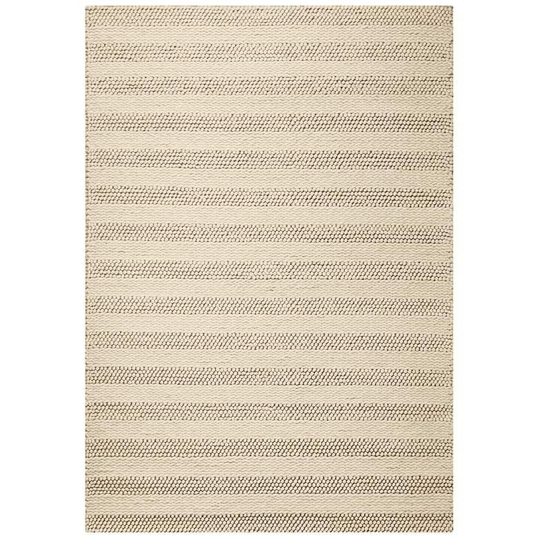 Cortico 6155 5'x7' Winter White Wool Area Rug