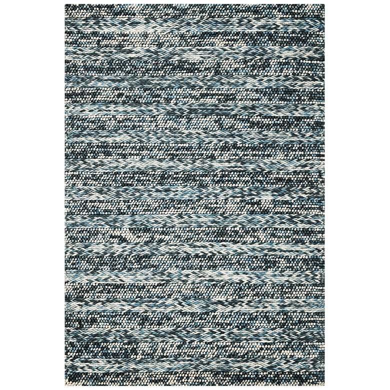 Cortico 6156 5'x7' Blue Heather Wool Area Rug