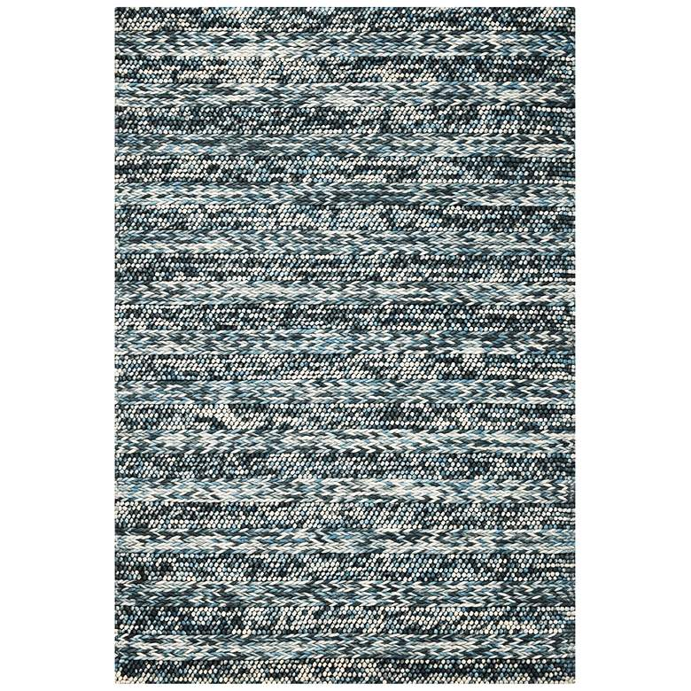 Cortico 6156 5'x7' Blue Heather Wool Area Rug
