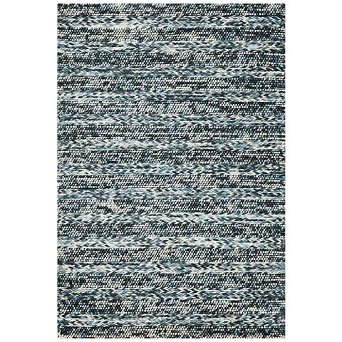 Cortico 6156 Blue Heather Wool Area Rug