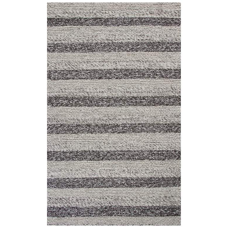 Cortico 6158 5'x7' Gray and White Landscape Wool Area Rug