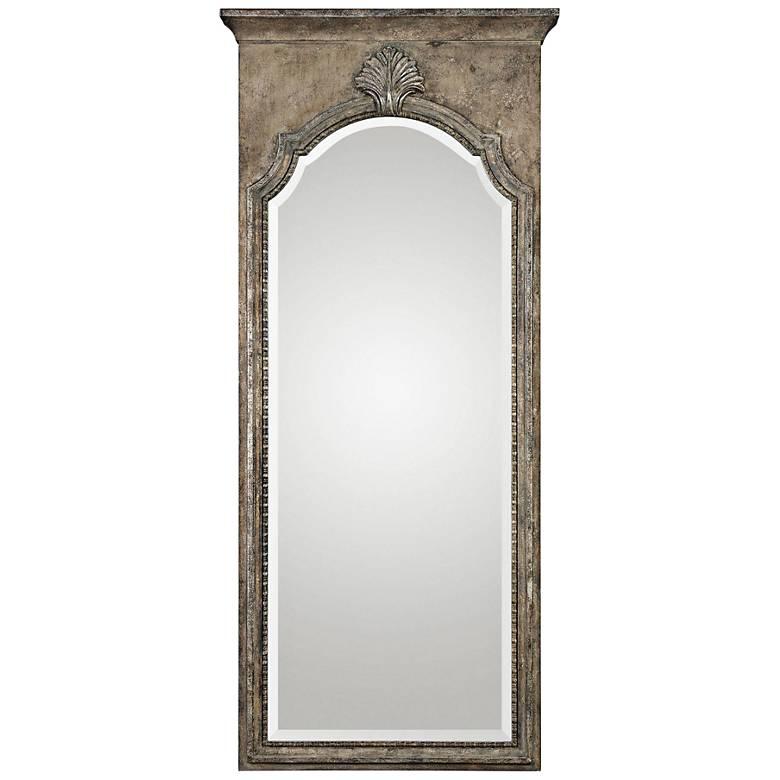 "Uttermost Nevola Antiqued Silver Leaf 32"" x 73"" Wall Mirror"