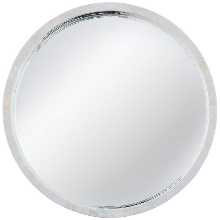 Mother Of Pearl 30 Round Wall Mirror