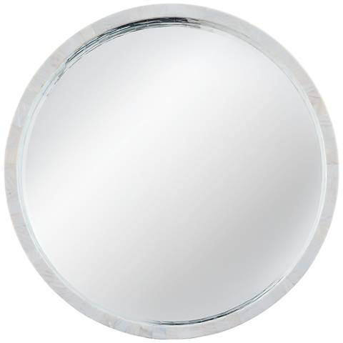 "Shoreline Mother of Pearl 36"" Round Wall Mirror"
