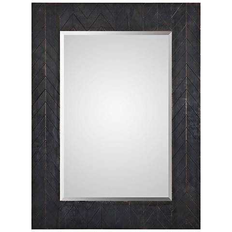 "Caprione Dark Bronze and Copper 35"" x 47"" Wall Mirror"