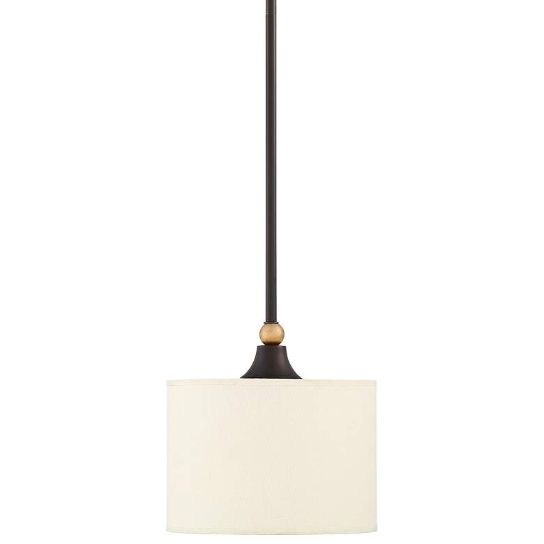 "Ballinger 8"" Wide English Bronze and Warm Brass Mini Pendant"