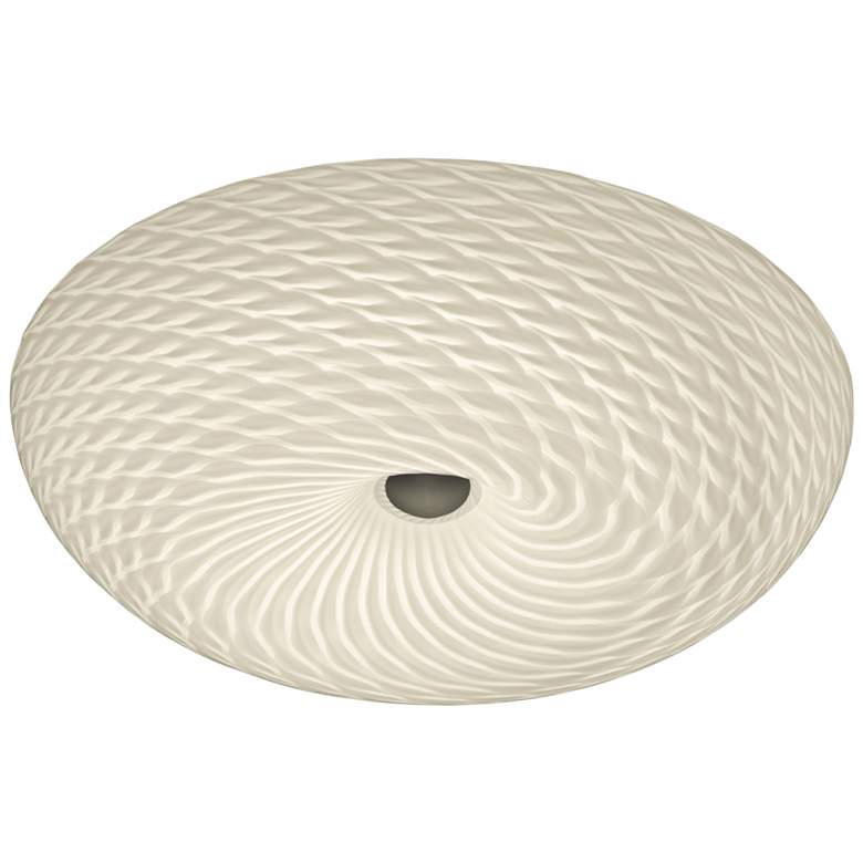 """Varaluz Swirled 15 1/2""""W French Feather Glass Ceiling Light"""