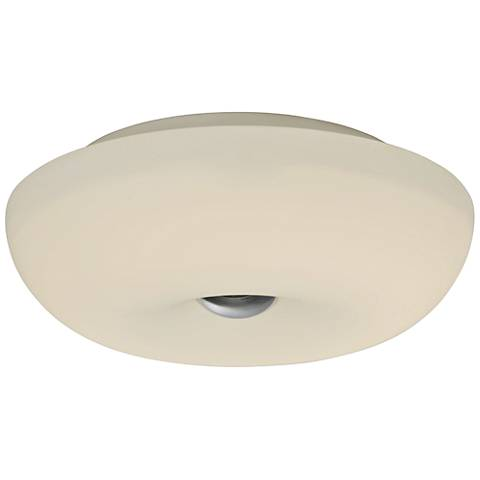 "Varaluz Swirled 12"" Wide White Opal Glass Ceiling Light"