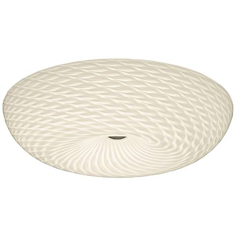 """Varaluz Swirled 18"""" Wide French Feather Glass Ceiling Light"""