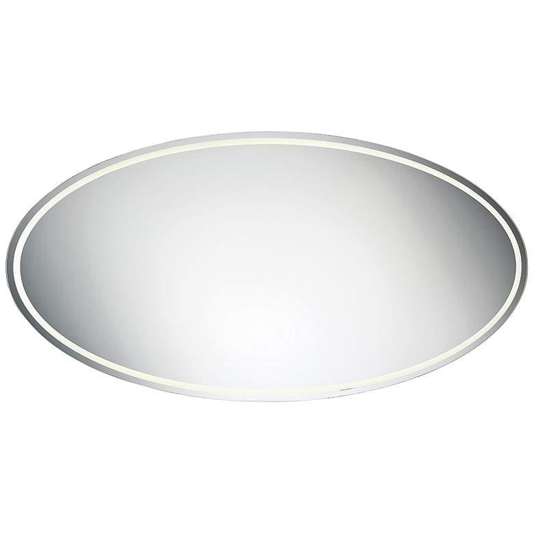 "Jefferson Back-lit 70 3/4"" x 30 1/2"" Oval LED Wall Mirror"