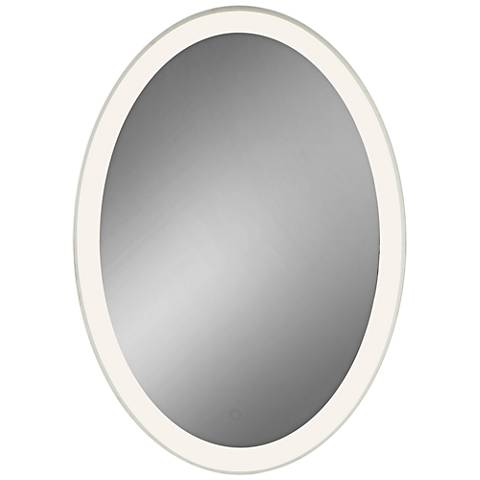 "Eurofase Adams Edge-lit 25"" x 35"" Oval LED Wall Mirror"