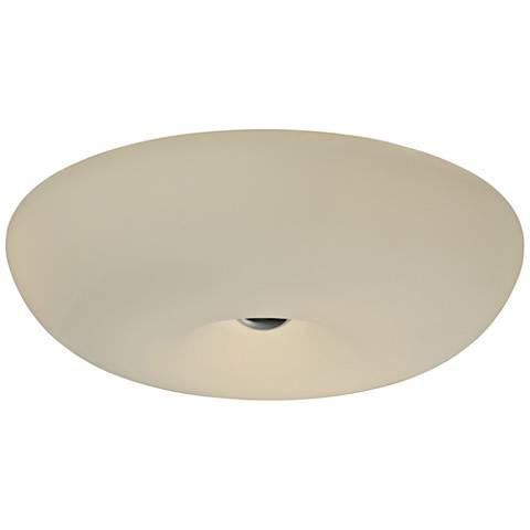 "Varaluz Swirled 18"" Wide White Opal Glass Ceiling Light"