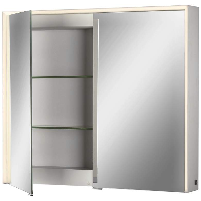 """Laurent 32"""" Wide Edge-lit 2-Door LED Mirror Bath Cabinet"""