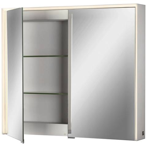 Eurofase Laurent Edge-lit 2-Door LED Mirror Cabinet