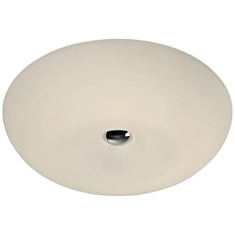 "Varaluz Swirled 15 1/2""W White Opal Glass LED Ceiling Light"