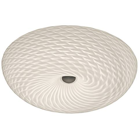 """Swirled 15 1/2"""" Wide French Feather Glass LED Ceiling Light"""