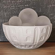 Coliseum Matte White Ceramic Bowl