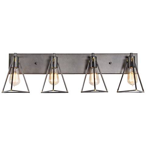 "Varaluz Trini 31 1/4"" Wide Gunsmoke 4-Light Bath Light"