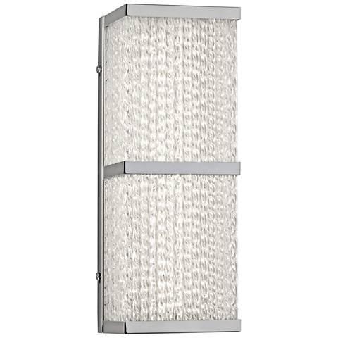 "Varaluz Twisted Sistah 12 1/2"" High Chrome LED Wall Sconce"