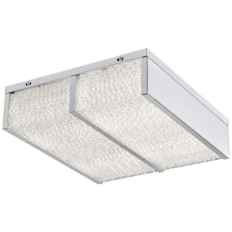 "Varaluz Twisted Sistah 12"" Wide Chrome LED Ceiling Light"