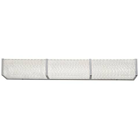 "Varaluz Twisted Sistah 32"" Wide Chrome LED Bath Light"